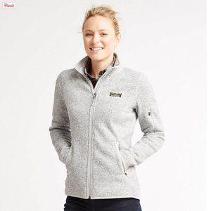 L.L.BEAN Sweater Fleece Full Zip, Size M